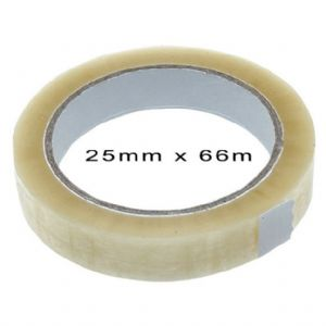 Clear Packaging/Parcel Tape 25mm x 66m